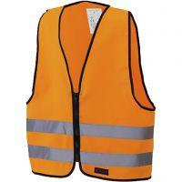 Reflexväst till barn med blixtlås, L: 51 cm, B: 46 cm, stl. S , orange, 1 st.