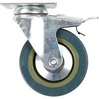 Hjul till inventarie, H: 130 mm, Dia. 100 mm, 4 st./ 1 förp.