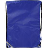 Ryggsäck, stl. 31x44 cm, blå, 1 st.