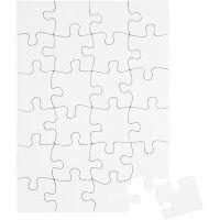 Pussel, stl. 15x21 cm, vit, 16 st./ 1 förp.