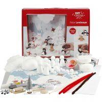 Materialset till polarlandskap, 1 set/ 1 låda