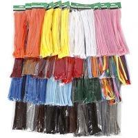 Piprensare, tjocklek 6-15 mm, mixade färger, 43x10 förp./ 1 förp.