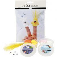 Mini kreativt set, fingerdockor, 1 set