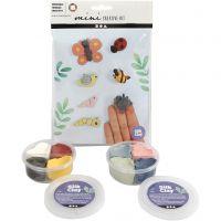 Mini kreativt set, insekter, 1 set