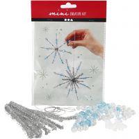 Kreativt minikit, iskristaller/snöflingor, 1 set