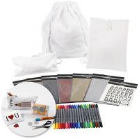Pysselset-Dekoration av textilier till skolstart, 1 set