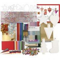 Julklippförpackning, mixade färger, 1 set