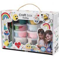 Foam Clay® och Silk Clay® i temaask, mixade färger, 1 set