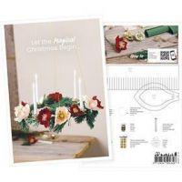 Postkort, Adventskrans av kräpp, A5, 14,8x21 cm, 1 st.