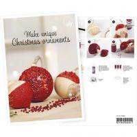 Postkort, julkulor med miniglaskulor, A5, 14,8x21 cm, 1 st.
