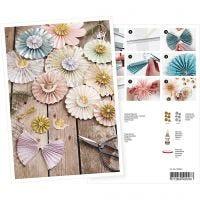 Postkort, rosetter, A5, 14,8x21 cm, 1 st.