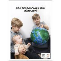 Poster, Var kreativ och lär dig om planeten jorden, 50x70, 29,7x42, 21x30 cm, 4 st./ 1 förp.