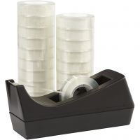 Tejphållare och tejp, B: 15 mm, 1 set