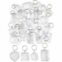 Nyckelringar berlocker, stl. 40-50 mm, 100 st./ 1 förp.