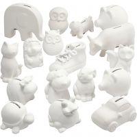 Sparbössor djur, vit, 106 st./ 1 låda