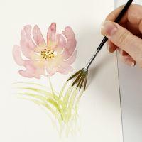 Så här målar du akvarell med lätta penseldrag