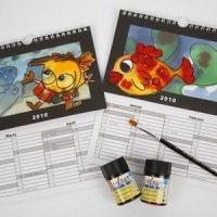 Kalender med fina motiv och utbytbar bakgrund