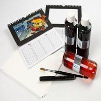Kalender med akvarell