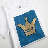 T-shirts med prins eller prinsesskronor