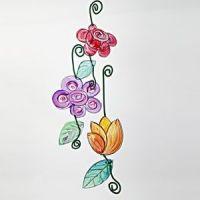 Transparenta blommor
