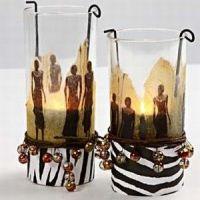 Ljusglas med servettdecoupage