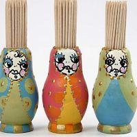 Babusjka-tandpetshållare