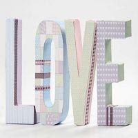 Pappbokstäver med Vivi Gade Design papper