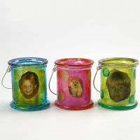 Lanternor med A-color Glas och decoupage