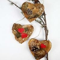 Naturliga julhjärtan