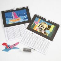 Kalender med rivcollage