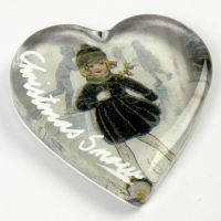 Glashjärta med dekoration