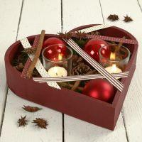 Hjärtfat med dekoration