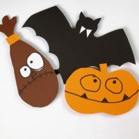 Schabloner till Halloweenmotiv