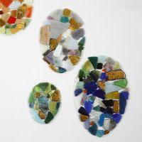 Ägg av hårdfolie med mosaik