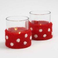 Ljusglas med bälte av nålfilt