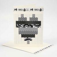 Dubbelkort med flätmotiv i papper från Vivi Gade Design
