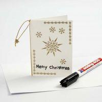 Julkort med stickers i guld