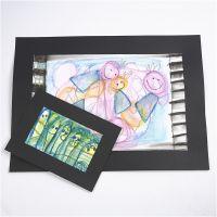 Bilder, gjorda med akvarellkritor