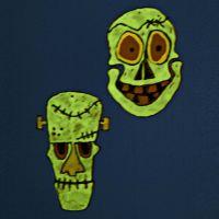 Upphängen av självlysande masker i hårdfolie