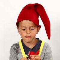 Tomteluva, sydd i röd filt