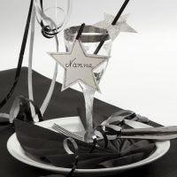 Nyårsdekoration av kartong till glaset