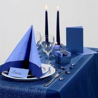Inspiration till fest med blå dukning