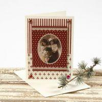Julkort med motiv på designpapper från Vivi Gade