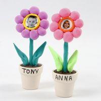 Foton av barn i blommor av Silk Clay