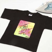 Överför motiv med textilfärg och transferpapper