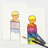 Akvarellkritor i praktiken
