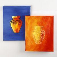 Måla med relief genom att använda en påfyllningsflaska med färg