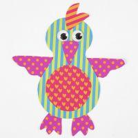 Papegoja av mönstrad kartong