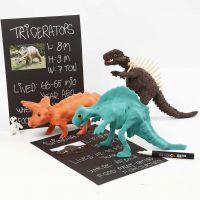 Dinosaurieskelett klädd med Silk Clay