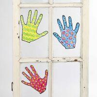 Flyttbara målade motiv till fönster
